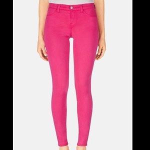 J Brand hot pink jeggings size 27